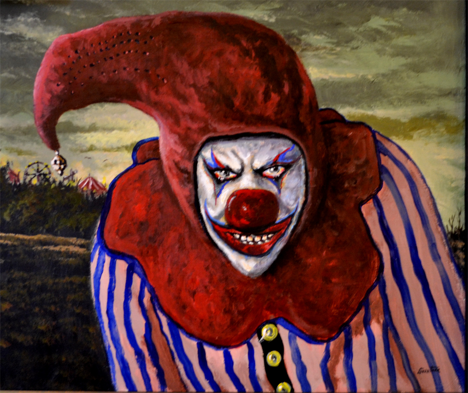 Scary clown painting, just one of 19 by Glenshaw artist ... |Creepy Clown Painting