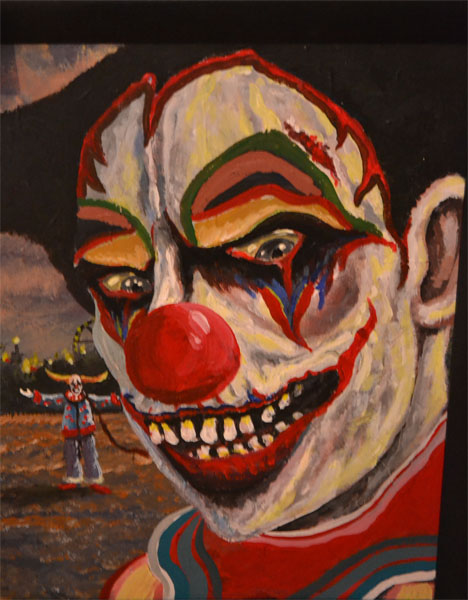 Creepy clown | Freaky, Ambitious, Curious, And Mysterious ... |Creepy Clown Painting