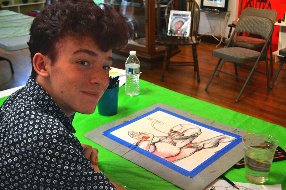 Teenager Art Drawing